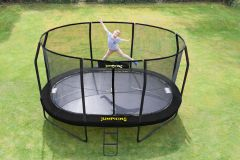 10ft x 15ft Oval JumpPod Trampoline 2016 (BLACK PAD)