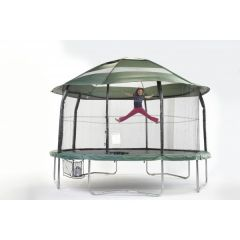 Example canopy on round trampoline
