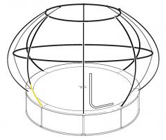 Position of bottom enclosure pole