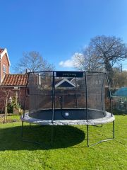 8ft x 11.5ft JumpKing Oval Combo Pro Trampoline