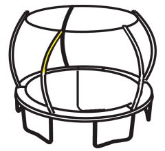 Enclosure Top Pole for JumpPOD Deluxe 2016
