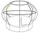 Position of top enclosure pole